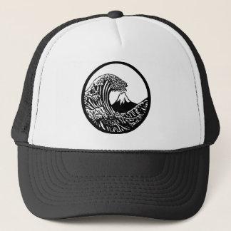 Grand casquette de Hokusai de vague