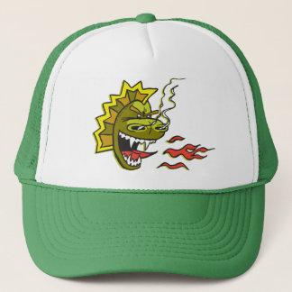 Grand casquette vert de camionneur de Smokie