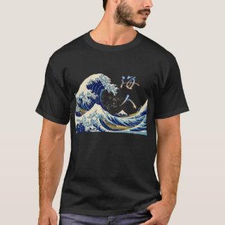 Grand cavalier de vague t-shirt