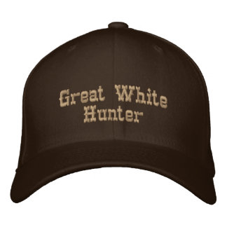 Grand chasseur blanc casquette brodée
