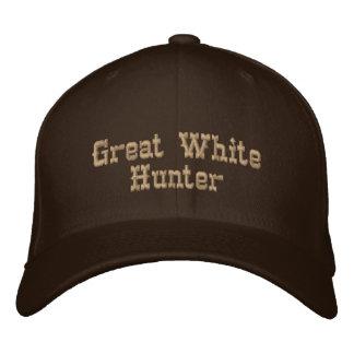 Grand chasseur blanc casquette brodée