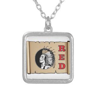 grand chef rouge pendentif carré