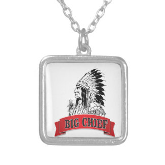 grand chef rouge pendentif carré