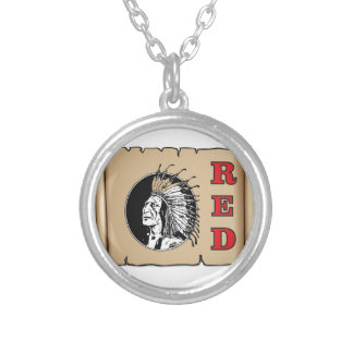 grand chef rouge pendentif rond