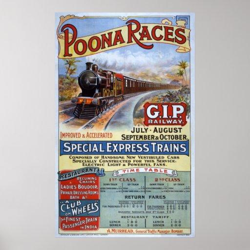 Grand chemin de fer indien de péninsule poster