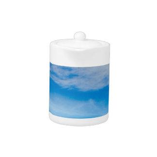 Grand ciel bleu de montagnes blanches