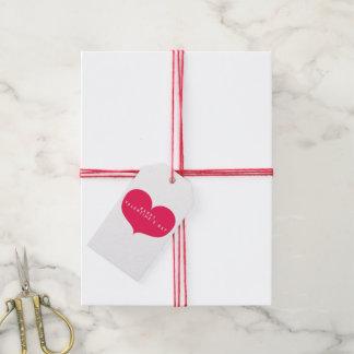 Grand coeur rose - étiquettes romantiques de