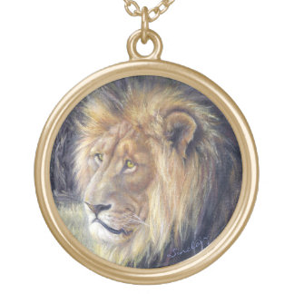 Grand collier Goldtone rond de lion