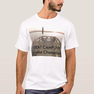 Grand coucher du soleil de Champlain de lac T-shirt