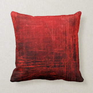 Grand coussin rouge abstrait !