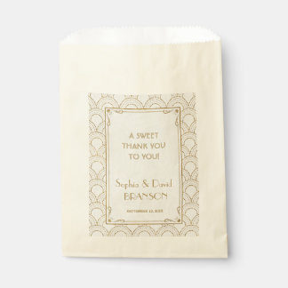 Grand épouser vintage de MERCI d'art déco de Sachets En Papier