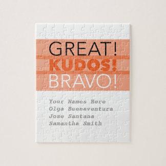 Grand ! Félicitations ! Bravo ! Puzzle, Puzzle