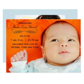 Grand Flourish de photo - faire-part de naissance