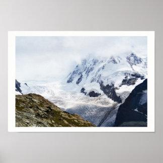 Grand glacier dans les alpes suisses poster