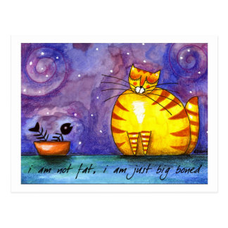 Grand gros chat jaune - carte postale