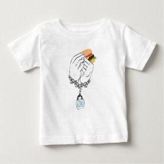 Grand hamburger savoureux et Hands2 T-shirt Pour Bébé