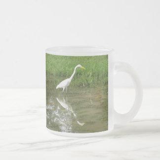 Grand héron blanc tasse