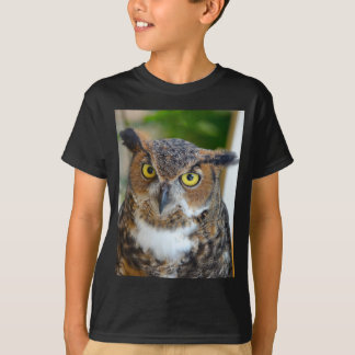 Grand hibou à cornes t-shirt