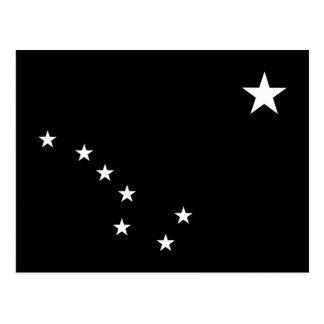 Grand huit noir et blanc carte postale