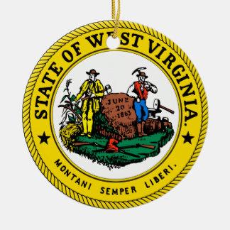 Grand joint de la Virginie Occidentale Ornement Rond En Céramique