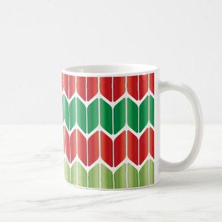 Grand Knit vert rouge Mug