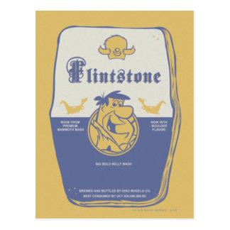 Grand lavage audacieux de ventre de Fred Flintston Carte Postale