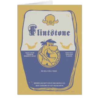 Grand lavage audacieux de ventre de Fred Flintston Cartes