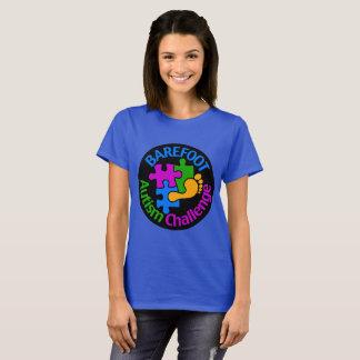 Grand logo d'autisme de T-shirt de base aux pieds