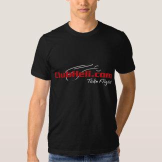 Grand logo de ClubHeli sur le T-shirt noir