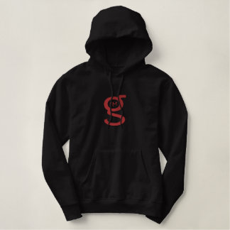 Grand logo rouge noir du sweat - shirt à capuche W Sweatshirt À Capuche Brodé