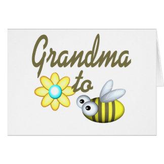 Grand-maman à l'abeille carte de vœux