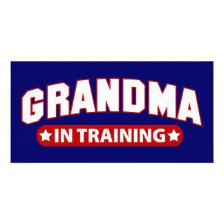 Grand-maman dans la formation photocarte personnalisée