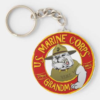 Grand-maman de Corp. marine Porte-clé Rond