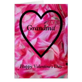 Grand-maman de heureuse Sainte-Valentin Carte De Vœux