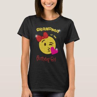 Grand-maman de la fête d'anniversaire d'Emoji de T-shirt