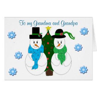 Grand-maman et grand-papa - carte de Noël