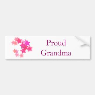 Grand-maman fière autocollant de voiture