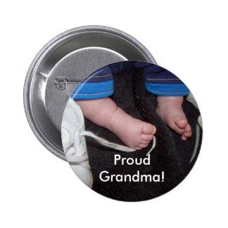 Grand-maman fière ! badge rond 5 cm