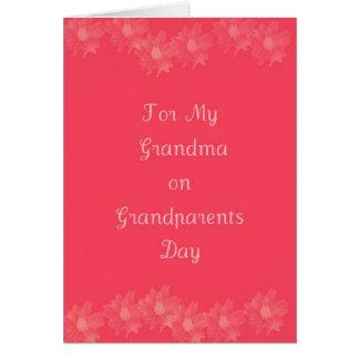 Grand-maman heureuse de jour de grands-parents carte de vœux