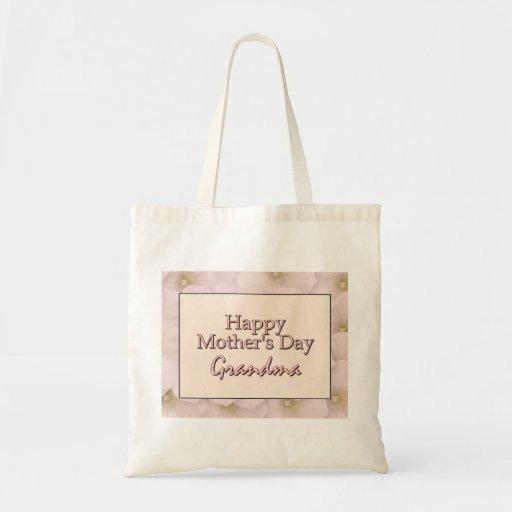 Grand-maman heureuse du jour de mère sac fourre-tout