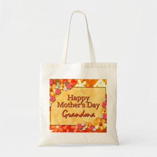 Grand-maman heureuse du jour de mère sac en toile