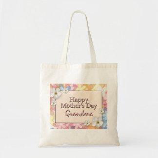 Grand-maman heureuse du jour de mère sac de toile