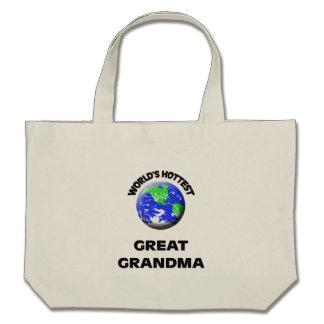 Grand-maman la plus chaude du monde la grande sac en toile