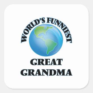 Grand-maman la plus drôle du monde la grande sticker carré
