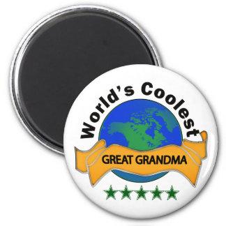 Grand-maman la plus fraîche du monde la grande magnet rond 8 cm