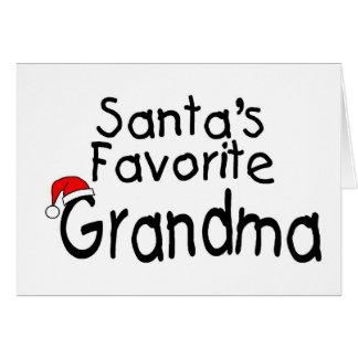 Grand-maman préférée 1 de Santa Carte De Vœux