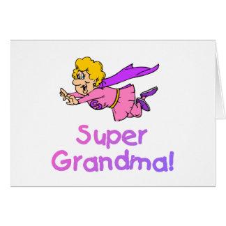 Grand-maman superbe (vol) carte de vœux