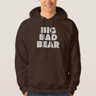 Grand mauvais dos de patte d'ours blanc d'ours veste à capuche
