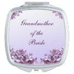 Grand-mère lilas florale de mariage de miroir de miroirs de maquillage