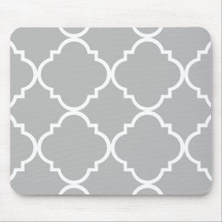 tapis de souris motif gris quatrefoil blanc gris. Black Bedroom Furniture Sets. Home Design Ideas